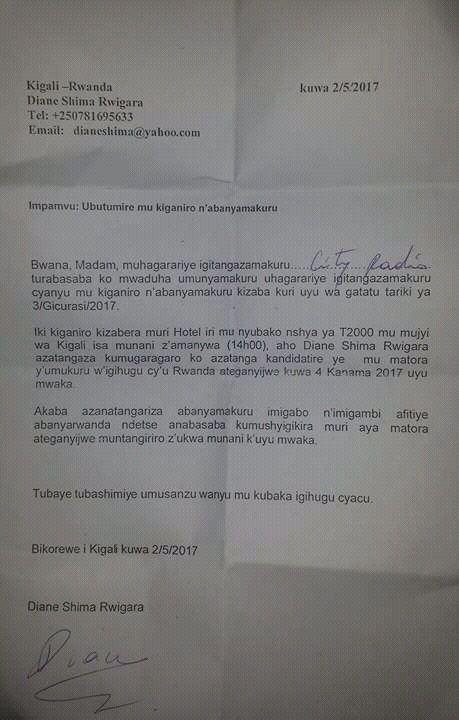 Rwanda: Diane Rwigara yiteguye kwiyamamariza umwanya w'umukuru w'igihugu!
