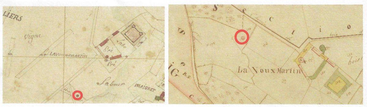 Plan par masses de cultures - 1807         et           Plan du cadastre napoléon - 1820