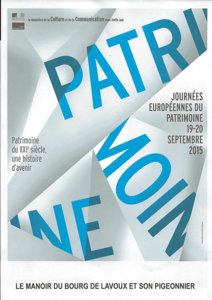 JOURNEES EUROPEENNES DU PATRIMOINE - LAVOUX
