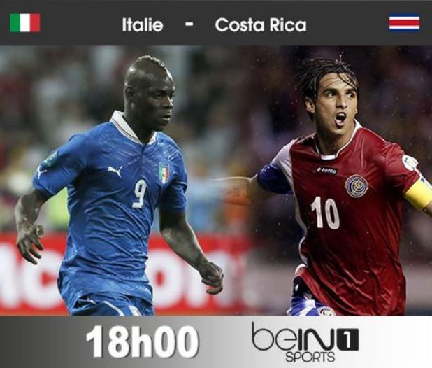 Ven 20 juin coupe du monde 2014 italie costa rica 18h00 en direct sur bein sports 1 - Coupe d italie en direct ...
