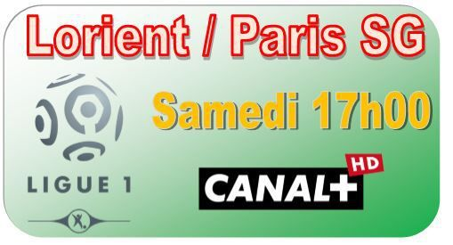 [Sam 1er Nov] Ligue 1 (J12) : Lorient / Paris SG (17h00) en direct sur CANAL+ !