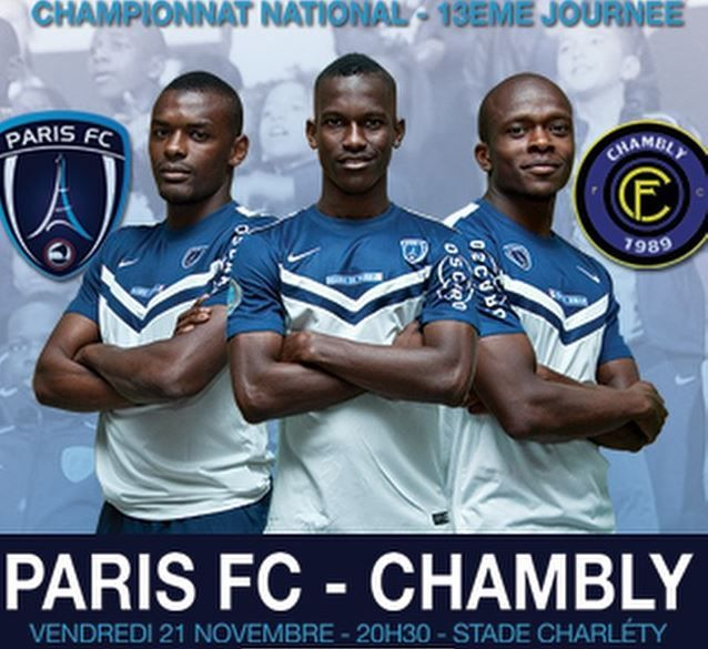 [Ven 21 Nov] Foot (National, 13ème Journée) Paris FC / Chambly  (direct 20h30) sur Ma Chaine Sport !