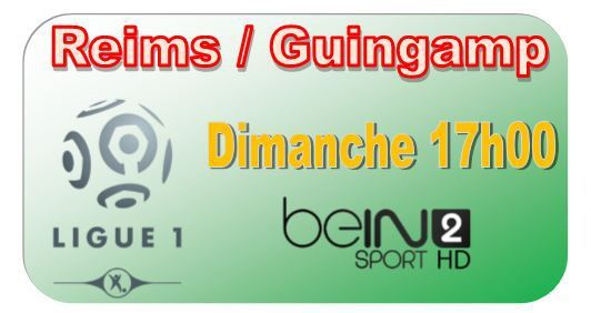 [Dim 07 Déc] Ligue 1 (J17) : Reims / Guingamp (17h00) en direct sur beIN SPORTS 2 !