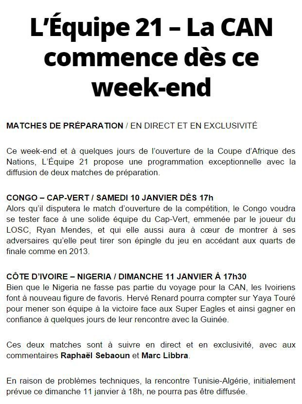 infos tv football retrouvez d s ce week end sur l 39 equipe 21 les matchs de pr paration de la. Black Bedroom Furniture Sets. Home Design Ideas