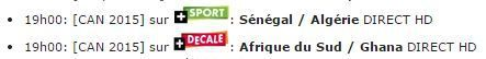 [Mar 27 Jan] CAN 2015 : Sénégal / Algérie (19h00) en direct sur CANAL+ SPORT !