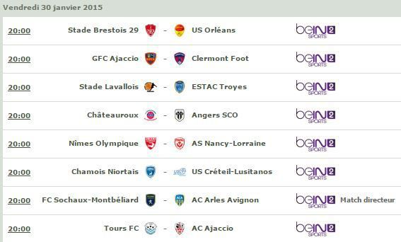 [Ven 30 Jan] Ligue 2 (J22) : MultiFoot (20h00) en direct sur beIN SPORTS 2 !