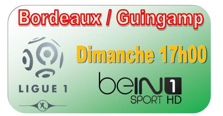 [Dim 1er Fév] Ligue 1 (J23) : Bordeaux / Guingamp (17h00) en direct sur beIN SPORTS 1 !