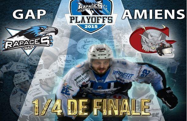 [Mar 03 Mar] Hockey (Ligue Magnus, 1/4 de Finale Match 3) Amiens / Gap, à suivre en direct à 20h05 sur l'Equipe.fr !
