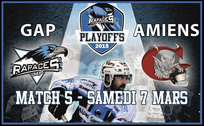[Sam 07 Mar] Hockey (Ligue Magnus, 1/4 de Finale Match 5) Gap / Amiens, à suivre en direct à 20h30 sur l'Equipe.fr !