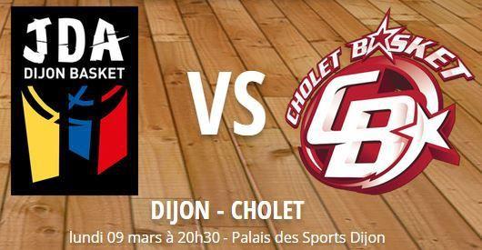 [Lun 09 Mar] Basket (23ème Journée de Pro A) Dijon / Cholet, à suivre en direct à 20h30 sur Sport Plus !