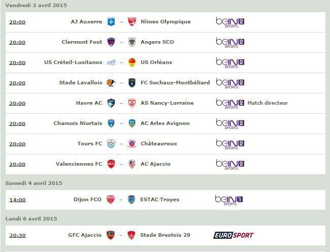[Infos TV] Football - Le Programme TV de la 30ème Journée de Ligue 2 !