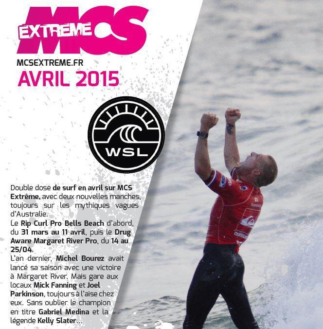 [Info TV] Découvrez les Temps Forts du mois d'Avril 2015 à venir sur Ma Chaîne Sport Extrême !