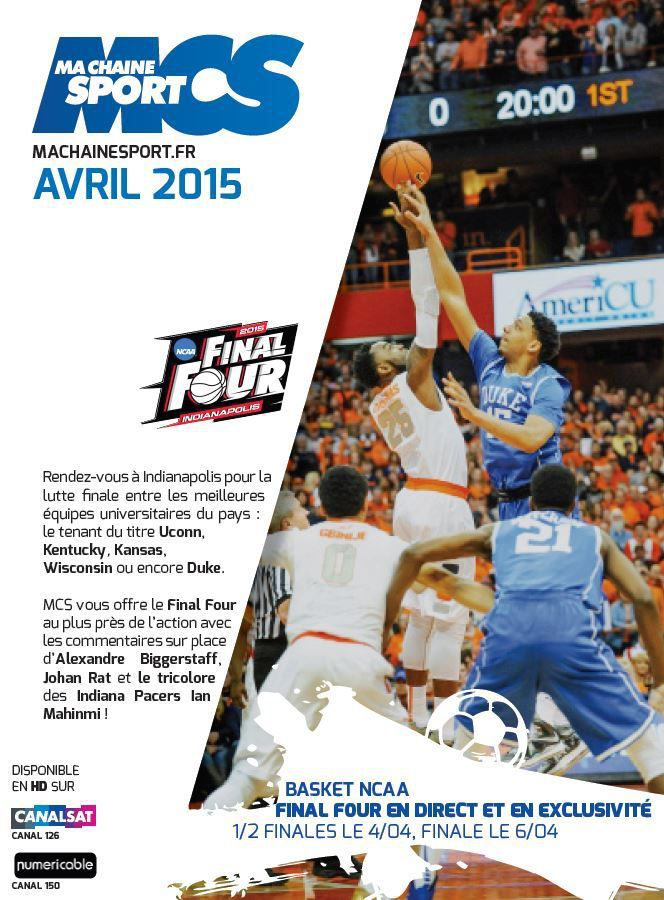 [Info TV] Découvrez les Temps Forts du mois d'Avril 2015 à venir sur Ma Chaîne Sport  !