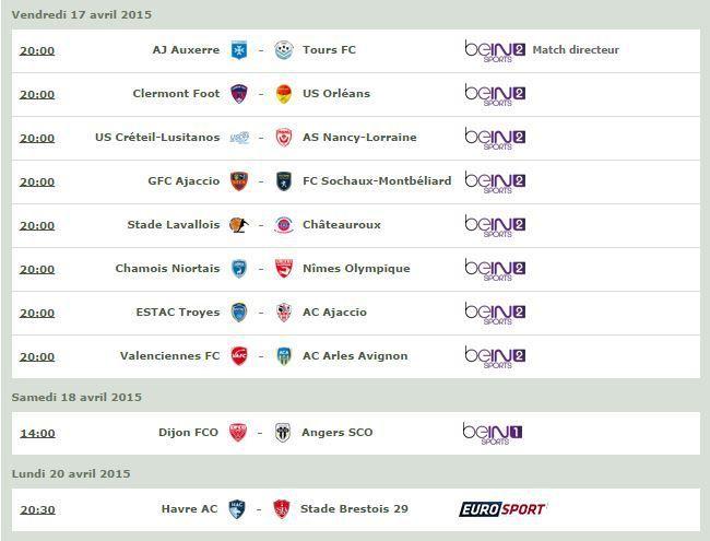 [Infos TV] Football - Découvrez le Programme TV de la 32ème Journée de Ligue 2 !