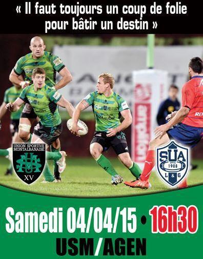 [Sam 04 Avr] Rugby (Pro D2, 26ème Journée) Montauban / Agen, à suivre en direct à 16h30 sur Sport Plus !