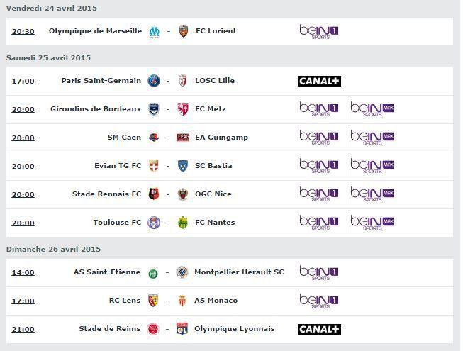 [Infos TV] Découvrez le Programme TV de la 34ème Journée de Ligue 1 de ce week-end !