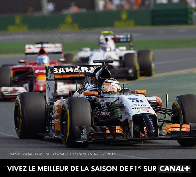 [Du 17 au 19 Avr] Formule 1 : Grand Prix de Bahrein 2015 à suivre en direct sur les antennes du groupe CANAL+ !