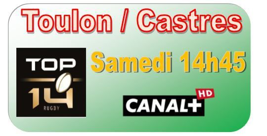 [Sam 09 Mai] Top 14 (J24) : Toulon / Castres (14h45) en direct sur CANAL+ !