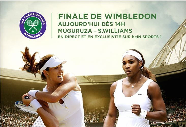 [Sam 11 Juil] Wimbledon 2015 (Finale Dames) : S.Williams / Muguruza (15h00) en direct sur beIN SPORTS 1 !