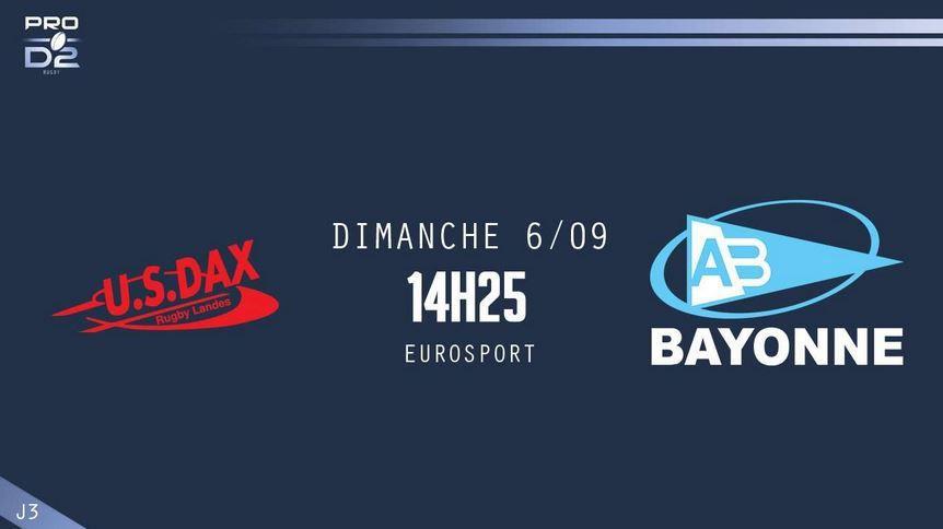[Dim 06 Sept] Rugby (Pro D2, 3ème Journée) Dax / Bayonne, à suivre en direct à 14h00 sur Eurosport 2 !