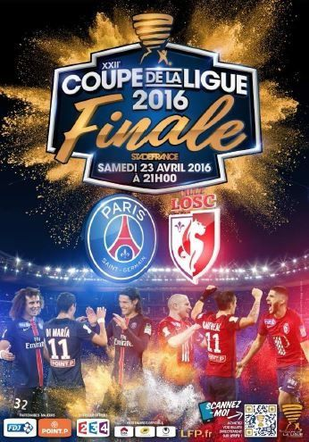 [Sam 23 Avr] Foot Coupe de la Ligue (FINALE) Lille / PSG (21h00) en direct sur FRANCE 2 !