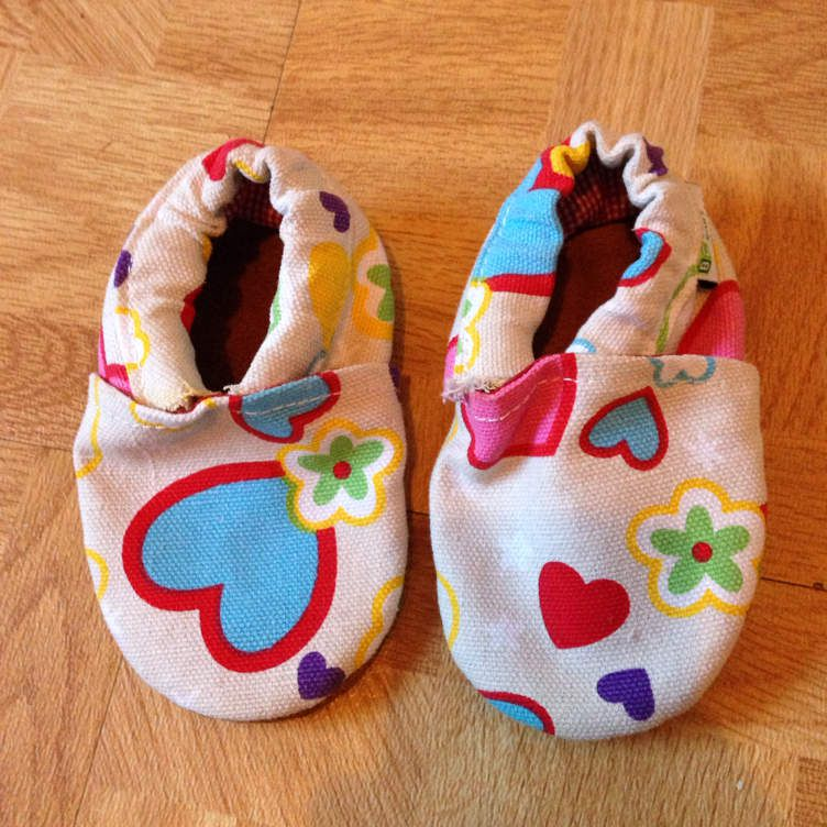 Chaussures souples cuir et toile Augusta 6-12 mois