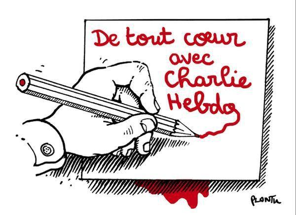 Charlie Hebdo, nous sommes de tout cœur avec toi
