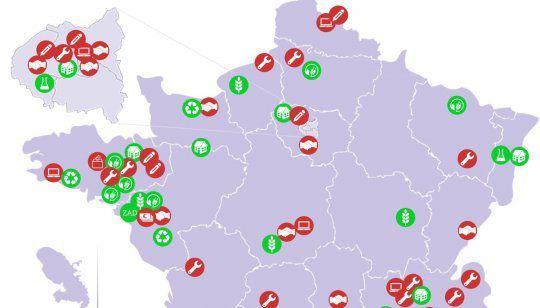 La carte de France des alternatives : 89 révolutions locales pour un changement global