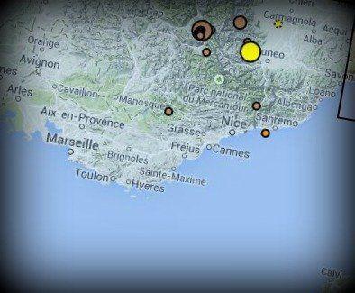 Région côte d'azur: nouveau séisme d'une magnitude de 3, le 3e depuis le début de l'année