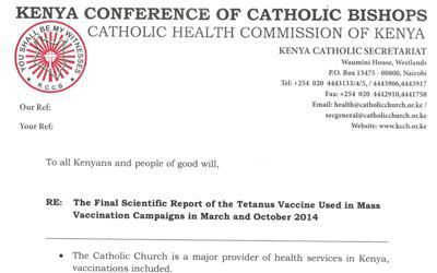 Stérilisation sous couvert de vaccination: l'OMS et l'UNICEF mis en cause