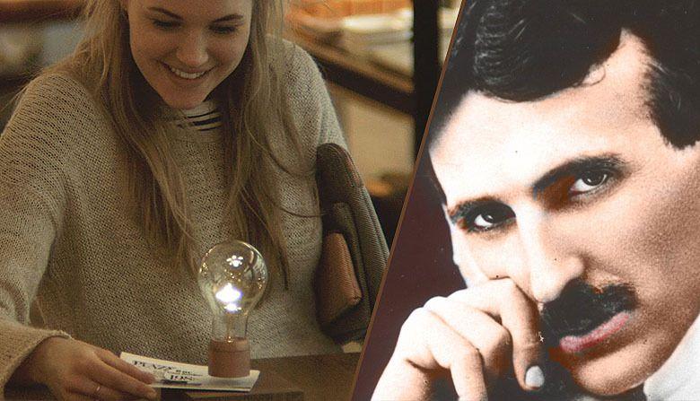 Inspiré par Tesla, il crée l'ampoule « wireless » à lévitation
