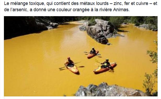 L'agence de protection de l'environnement américaine pollue une rivière par accident