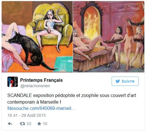 Une exposition à Marseille accusée de pédopornographie