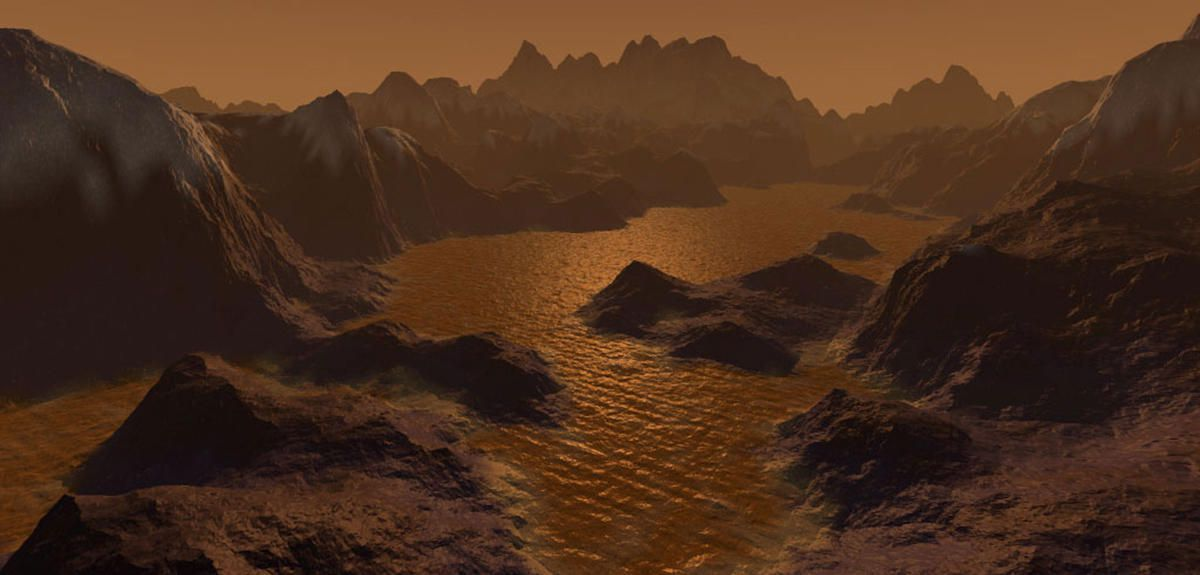 S. HOBBS/NASA.GOV Surface de Titan vue d'artiste