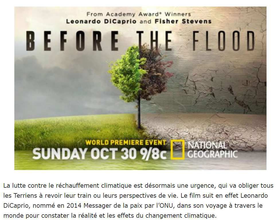 Before the flood gratuit jusqu'au 6 novembre en VOSTF