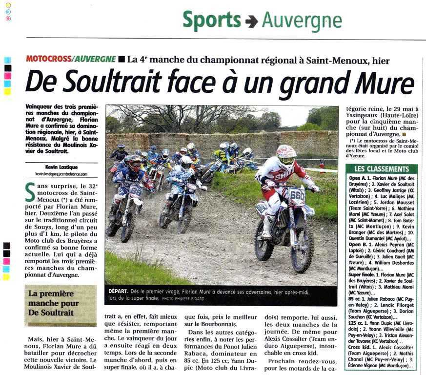 Article La Montagne 2 Mai 2016