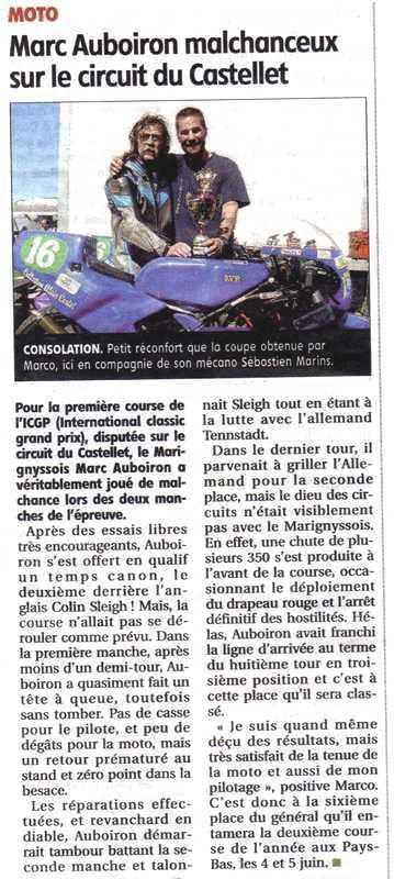 Article La Montagne Marc AUBOIRON