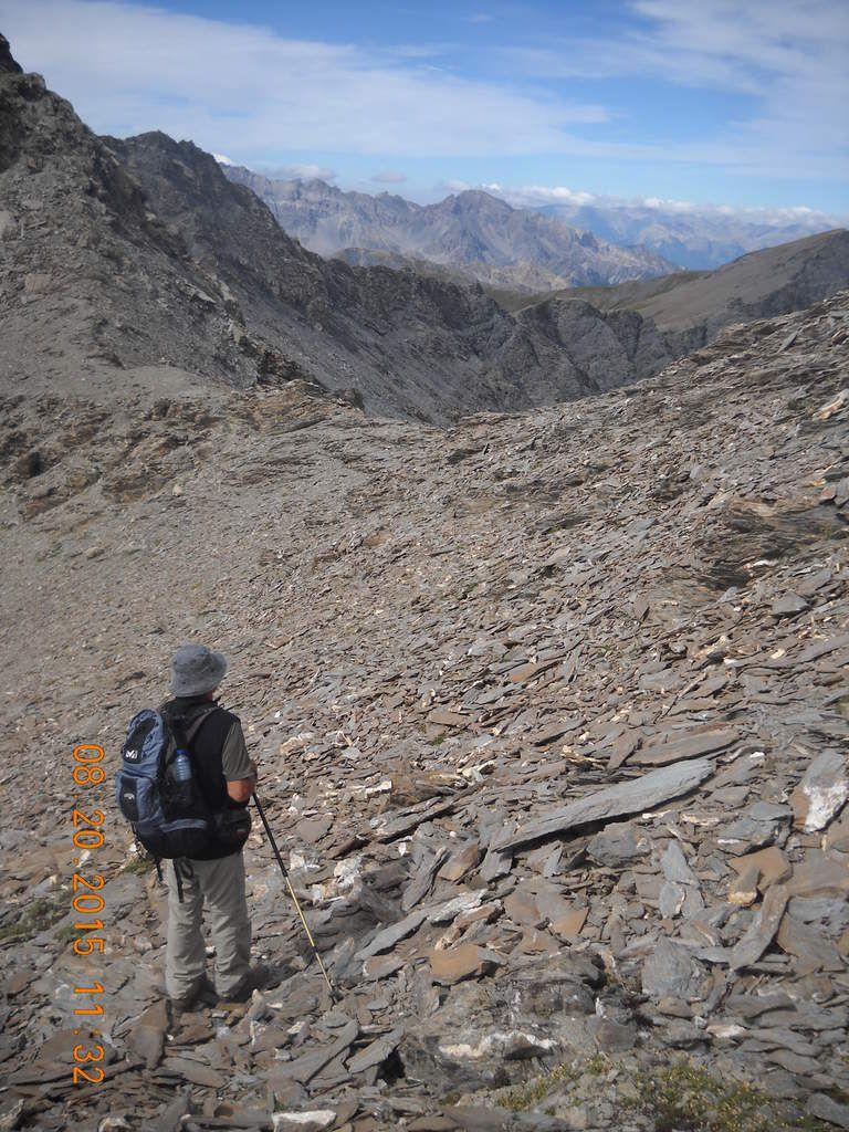 Le pas de la Cula juste avant le rocher final