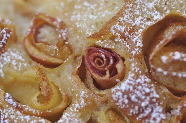 Gâteau pomme amande &quot&#x3B;roses de pommes&quot&#x3B;