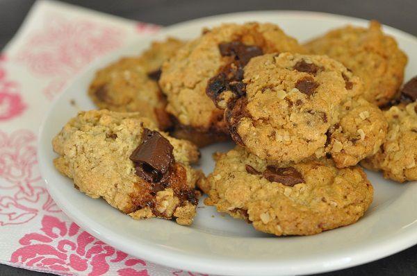 Cookies aux flocons d'avoine et aux quatre chocolats