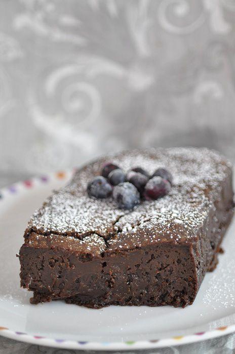 Gateau au chocolat fondant cuit au bain marie