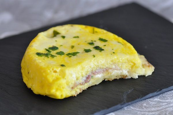 Croque quiche jambon et mont d'or