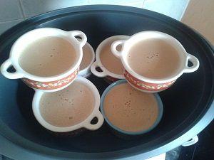 Flans au chocolat cuisson vapeur