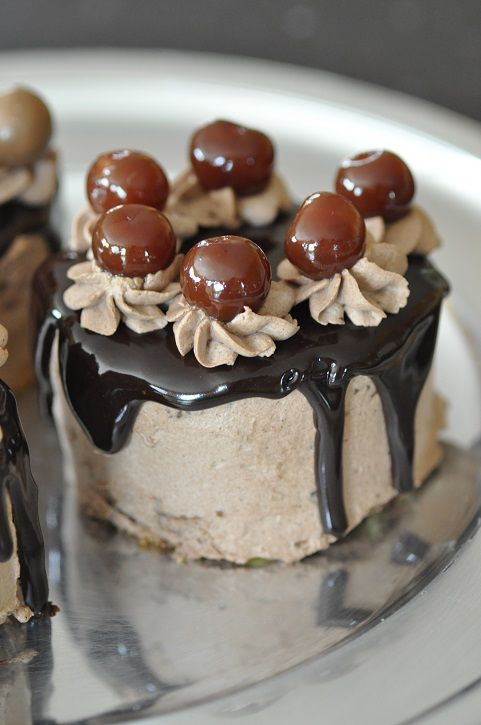 Mini layer cakes au chocolat