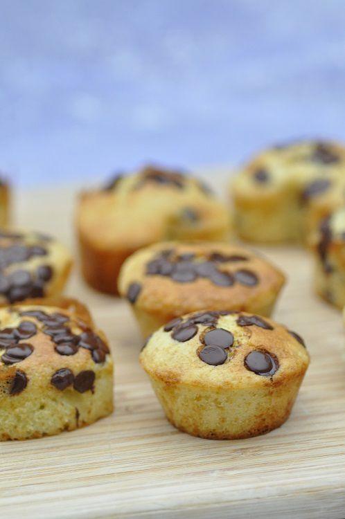 muffins aux pépites de chocolat noir