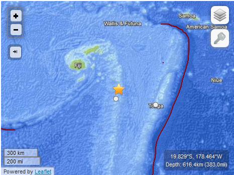 tremblement de terre FIJI