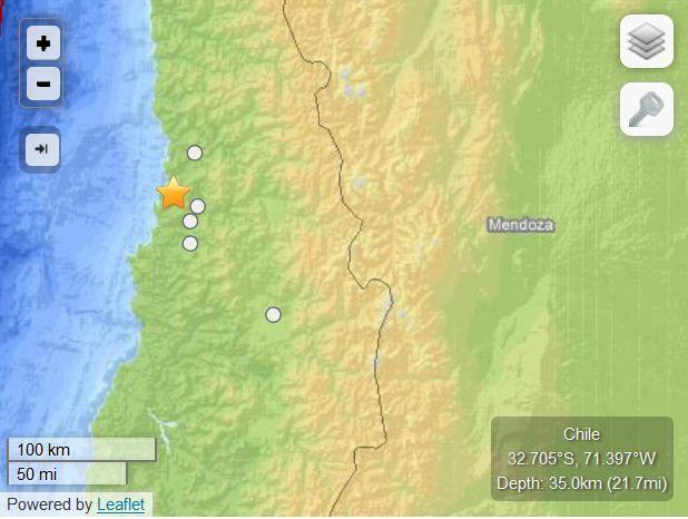 Chili tremblement de terre M6.4