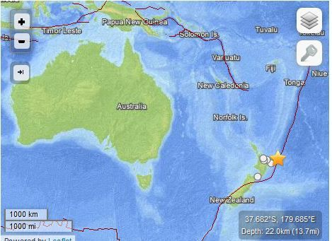 tremblement de terre M6.7 New Zealand