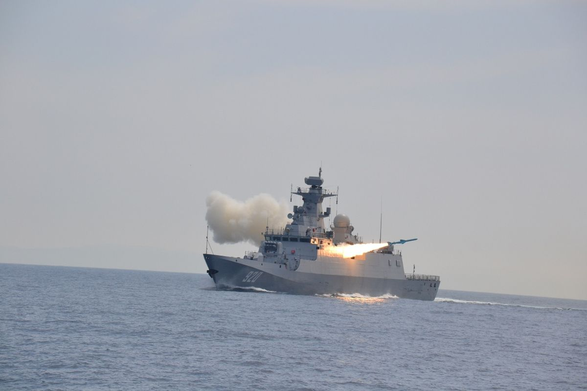 Algerian Navy test fire C-802A Anti-Ship missile on board a C28A Corvette