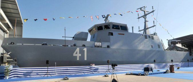 Launching ceremony of Algeria's first MCMV (Mine Countermeasure Vessel) El-Kasseh
